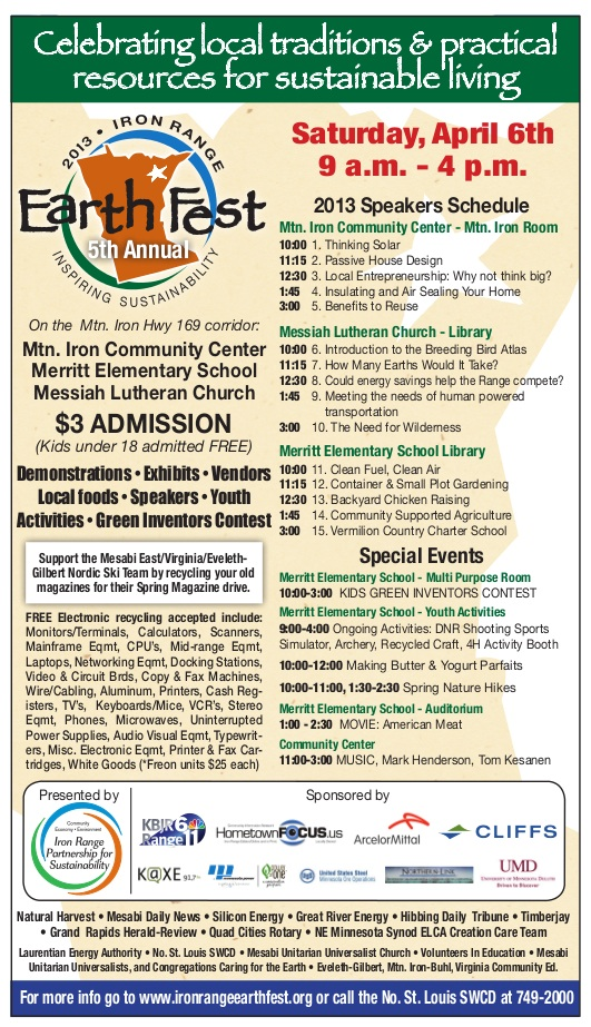 2013 Earth Fest Speaker Schedule & Special Events!